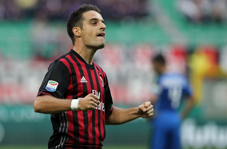 Bonaventura celebrates after scoring during Milan-Sassuolo at Stadio San Siro on the 2nd of October 2016. (Photo by Marco Luzzani/Getty Images)