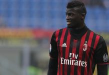 Niang during Milan-Pescara at Stadio San Siro on the 30th of October 2016 (Photo by Marco Luzzani/Getty Images)