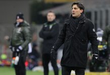 Vincenzo Montella during Milan-Cagliari at Stadio San Siro on the 8th of January 2017. (Photo by Marco Luzzani/Getty Images)