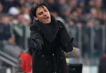 Vincenzo Montella during the Juventus-Milan Coppa Italia match at Juventus Stadium on the 25th of January 2017. (Photo by Valerio Pennicino/Getty Images)