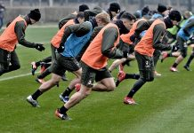 The team during training at Milanello (@acmilan.com)