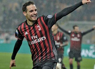 Giacomo Bonaventura celebrating after scoring during Milan-Torino at Stadio San Siro on the 12th of January 2017 (@acmilan.com)