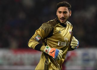 Gianluigi Donnarumma during Torino-Milan at Stadio Olimpico di Turin on the 16th of January 2017 (Photo by Valerio Pennicino/Getty Images)