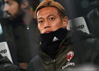 Keisuke Honda during Juentus-Milan at the Juventus Stadium on the 25th of January 2017. (Photo by Valerio Pennicino/Getty Images)