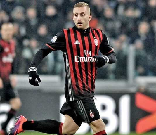Gerard Deulofeu during the Juventus-Milan Coppa Italia match at Juventus Stadium on the 25th of January 2017. (@acmilan.com)