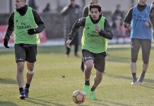 Matias Fernandez during training at Milanello (@acmilan.com)