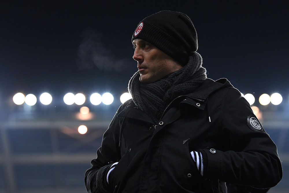 Vincenzo Montella during Torino-Milan at Stadio Olimpico di Turin on the 16th of January 2017. (Photo by Valerio Pennicino/Getty Images)