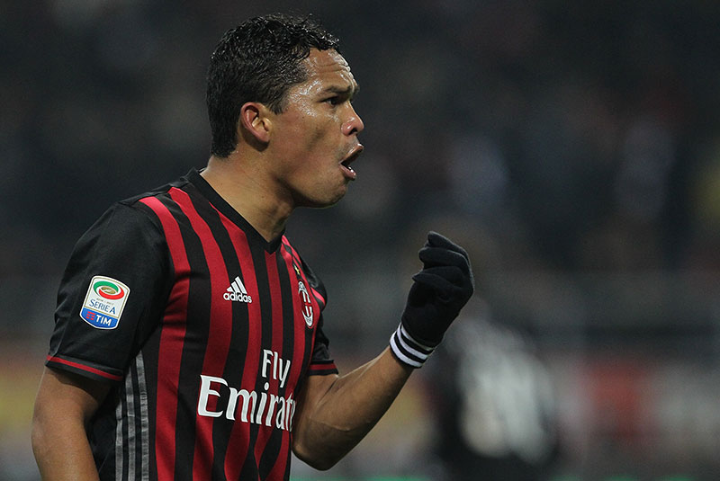 Carlos Bacca during Milan-Napoli at Stadio San Siro on the 21st of January 2017. (Photo by Marco Luzzani/Getty Images)