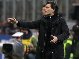 Vincenzo Montella during Milan-Chievo at Stadio San Siro on the 4th of March 2017. (Photo by Marco Luzzani/Getty Images)