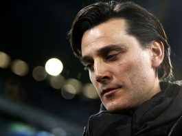 Vincenzo Montella during Juventus-Milan at the Juventus Stadium on the 10th of March 2017 (MARCO BERTORELLO/AFP/Getty Images)