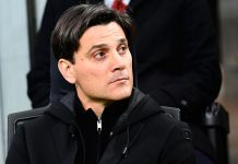 Vincenzo Montella during Milan-Genoa at Stadio San Siro on the 18th of March 2017. (MIGUEL MEDINA/AFP/Getty Images)