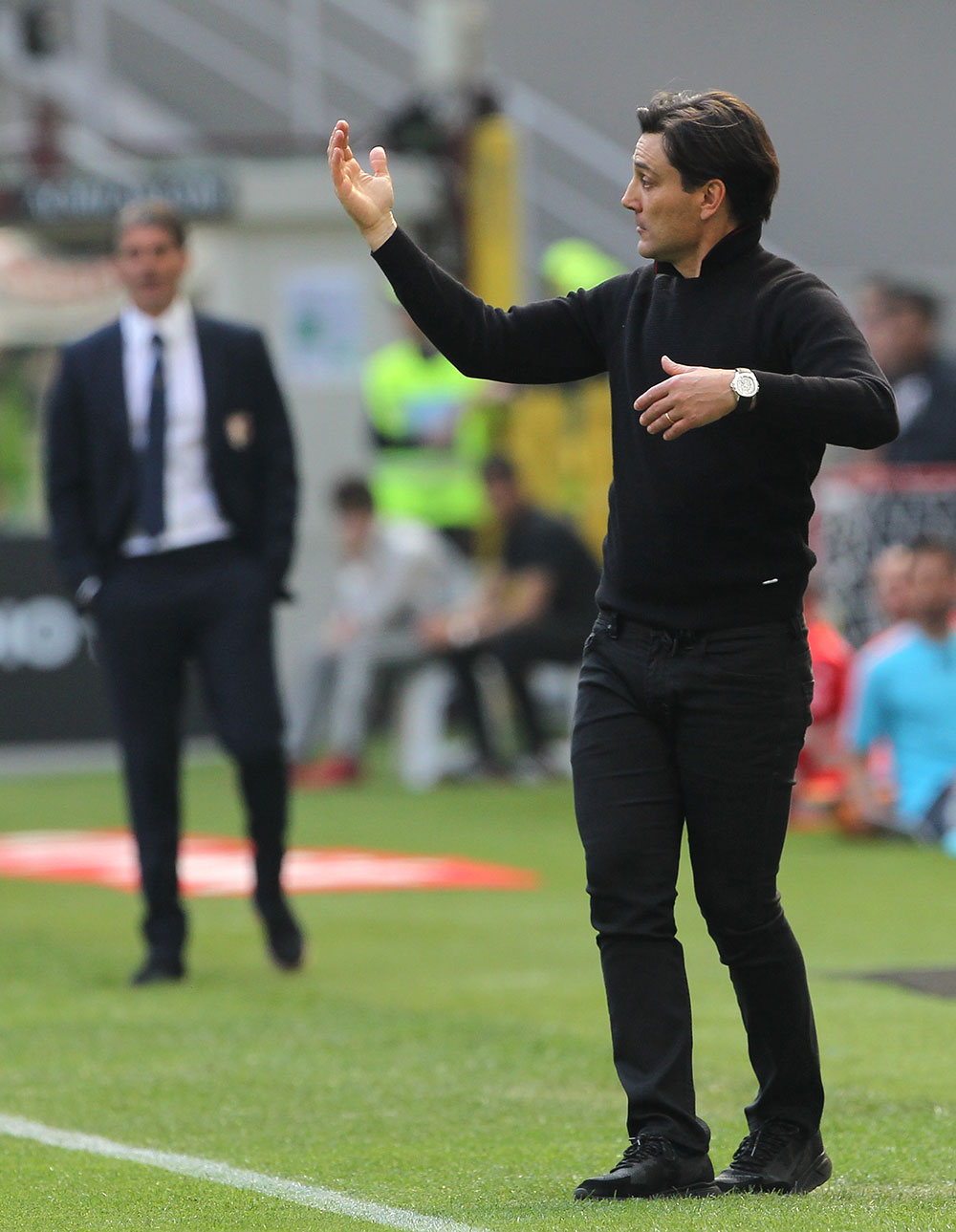 Vincenzo Montella during Milan-Palermo at Stadio San Siro on the 9th of April 2017. (Photo by Marco Luzzani/Getty Images)