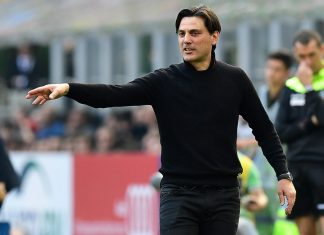 Vincenzo Montella during Milan-Palermo at Stadio San Siro on the 9th of April 2017 (MIGUEL MEDINA/AFP/Getty Images)