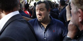 Milo Raiola at the PSG store on the Champs-Elysees avenue on July 18, 2012 in Paris. (GUILLAUME BAPTISTE/AFP/Getty Images)