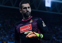 Diego Lopez during Espanyol-Real Madrid at the RCDE Stadium on September 18, 2016. (Photo by David Ramos/Getty Images)