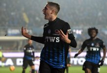 Andrea Conti celebrates during Atalanta-Crotone at Stadio Atleti Azzurri d'Italia on February 18, 2017. (Photo by Tullio M. Puglia/Getty Images)