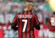 Gerard Deulofeu during Milan-Bologna at Stadio San Siro on May 21, 2017. (Photo by Marco Luzzani/Getty Images)