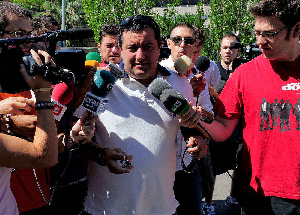 Mino Raiola on August 26, 2010 (JOSEP LAGO/AFP/Getty Images)