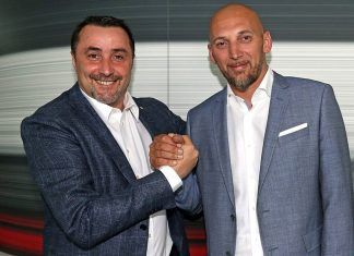 Massimiliano Mirabelli and Christian Abbiati at Casa Milan on the 14th of June, 2017. (@acmilan.com)