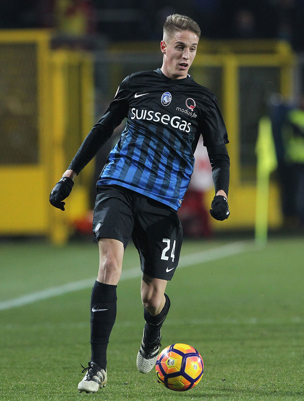 Andrea Conti during Atalanta-Sampdoria at Stadio Atleti Azzurri d'Italia on January 22, 2017. (Photo by Marco Luzzani/Getty Images)