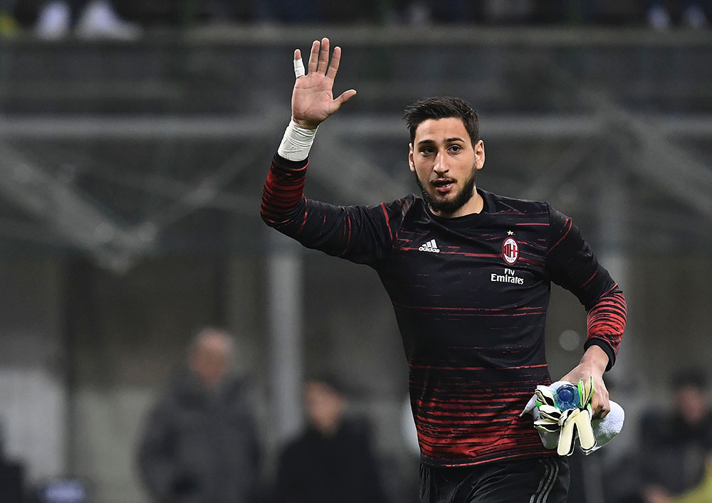 Donnarumma before Milan-Fiorentina at Stadio San Siro on February 19, 2017. (MIGUEL MEDINA/AFP/Getty Images)