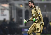 Gianluigi Donnarumma during Milan-Fiorentina at Stadio San Siro on February 19, 2017. (MIGUEL MEDINA/AFP/Getty Images)