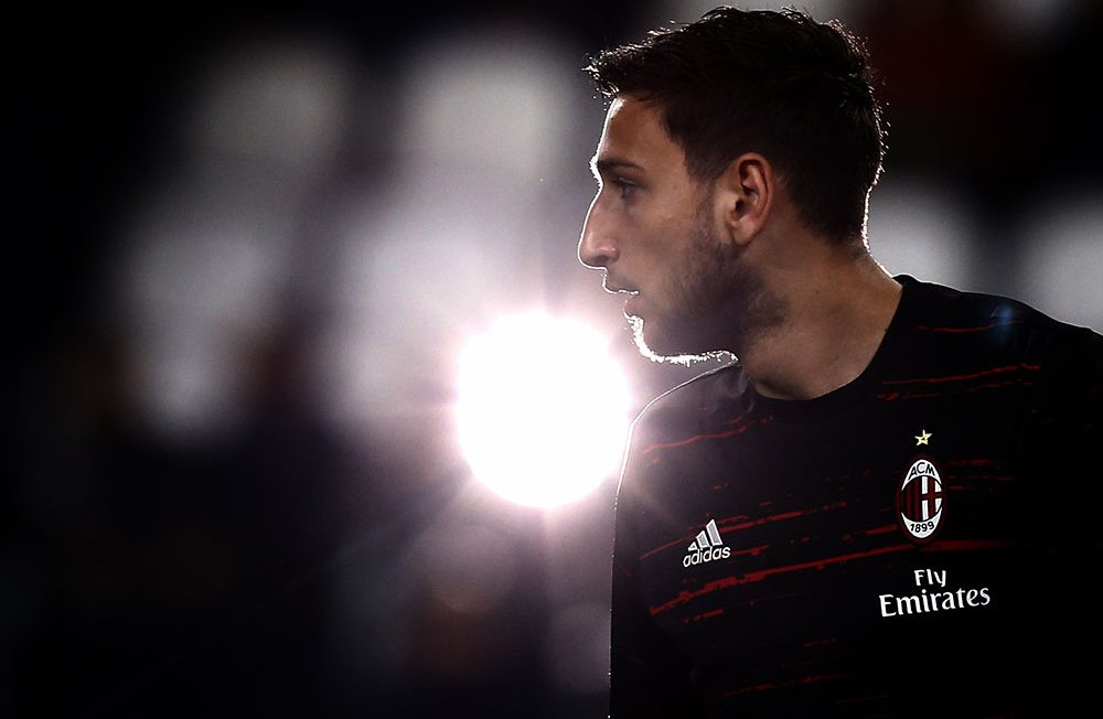 Gianluigi Donnarumma before Juventus-Milan at the Juventus Stadium on March 10, 2017. (MARCO BERTORELLO/AFP/Getty Images)