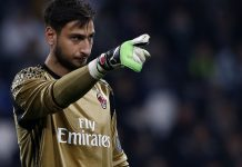 Donnarumma during Juventus-Milan at the Juventus Stadium on March 10, 2017. (MARCO BERTORELLO/AFP/Getty Images)