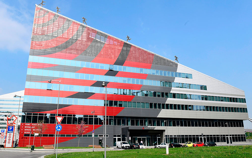 Milan's headquarters Casa Milan on April 14, 2017. (MIGUEL MEDINA/AFP/Getty Images)
