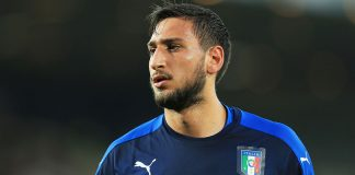 Gianluigi Donnarumma before the Italy-Germany 2017 UEFA European Under-21 Championship match at Stadion Cracovia on June 24, 2017. (Photo by Stephen Pond/Getty Images)