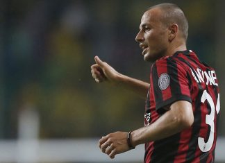 Luca Antonelli during Borussia Dortmund-Milan at University Town Sports Centre Stadium on July 18, 2017 in Guangzhou, China. (@acmilan.com)