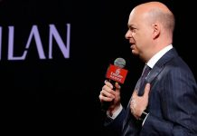 Marco Fassone during a Milan event in Guangzhou, China, on the 16th of July, 2017. (@acmilan.com)