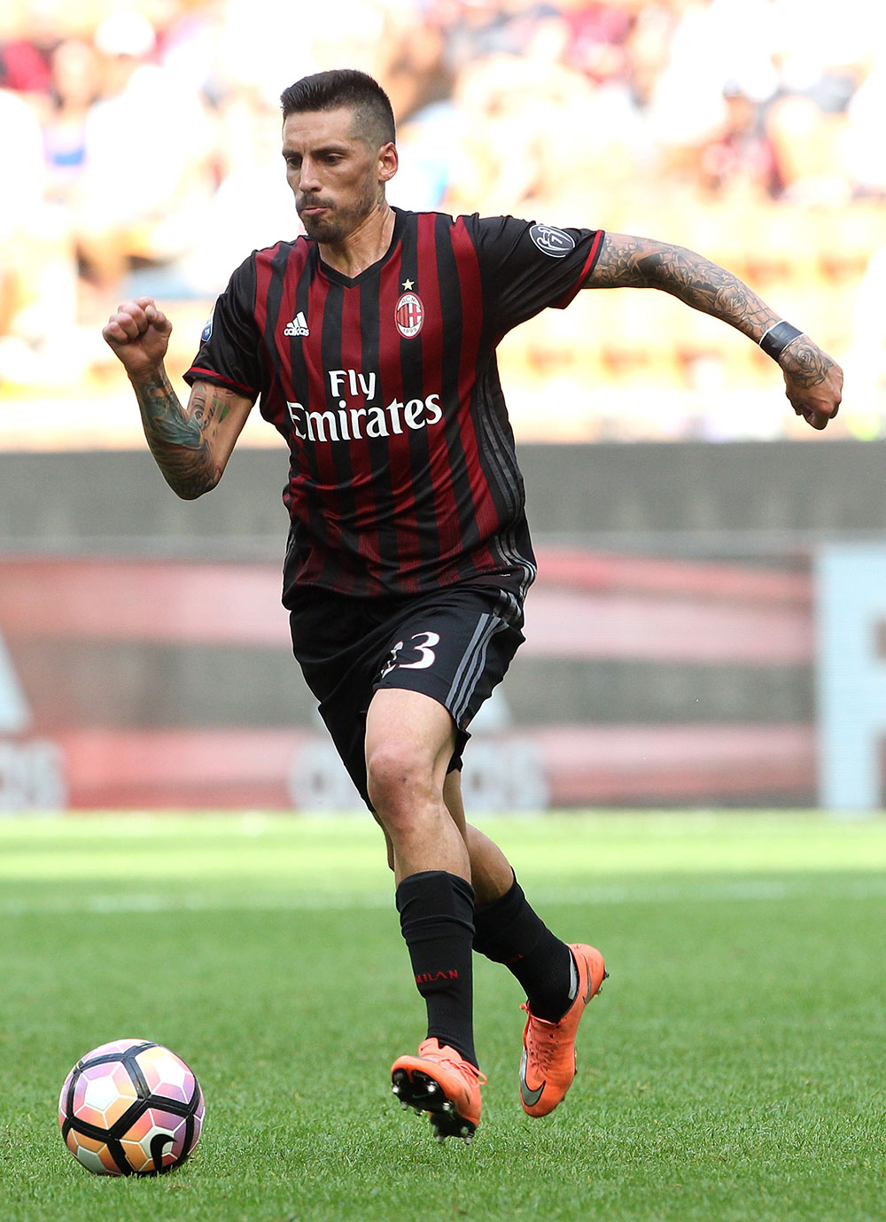 Jose Sosa during Milan-Udinese at Stadio San Siro on September 11, 2016. (Photo by Marco Luzzani/Getty Images)