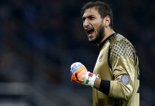 Gianluigi Donnarumma during Milan-Juventus on October 22, 2016 at Stadio San Siro. (MARCO BERTORELLO/AFP/Getty Images)