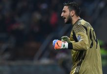 Gianluigi Donnarumma during Milan-Inter at Stadio San Siro on November 20, 2016. (Photo by Valerio Pennicino/Getty Images)
