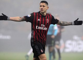 Gianluca Lapadula during Milan-Atalanta at Stadio San Siro on December 17, 2016. (Photo by Marco Luzzani/Getty Images)