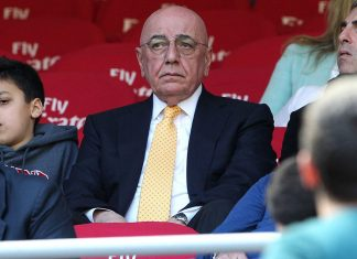 Adriano Galliani before Milan-Empoli at Stadio San Siro on April 23, 2017. (Photo by Marco Luzzani/Getty Images)