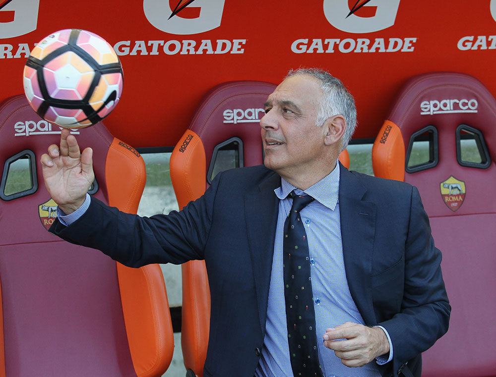 James Pallotta before Roma-Genoa at Stadio Olimpico on May 28, 2017. (Photo by Paolo Bruno/Getty Images)