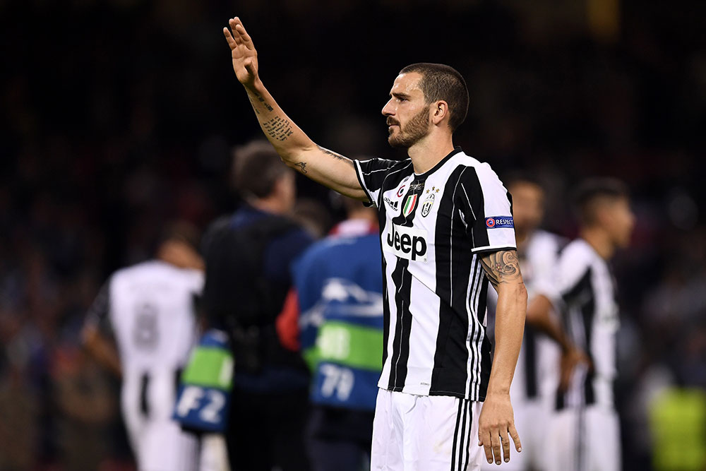 Leonardo Bonucci at the end of the UEFA Champions League Final between Juventus and Real Madrid at National Stadium of Wales on June 3, 2017. (Photo by David Ramos/Getty Images)