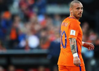 Wesley Sneijder during the Netherlands-Luxembourg FIFA 2018 World Cup Qualifier at Stadion Feijenoord on June 9, 2017. (Photo by Dean Mouhtaropoulos/Getty Images)
