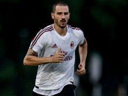 Leonardo Bonucci during Milan training. (@acmilan.com)