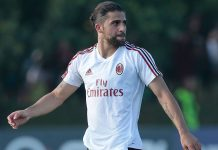 Ricardo Rodriguez during training at Milanello on July 5, 2017. (Photo by Emilio Andreoli/Getty Images)