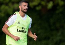Mateo Musacchio during training at Milanello on July 5, 2017. (Photo by Emilio Andreoli/Getty Images)