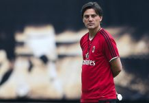 Vincenzo Montella during the Milan training session at University Town Sports Centre Stadium on July 15, 2017 in Guangzhou, China. (Photo by Lintao Zhang/Getty Images)