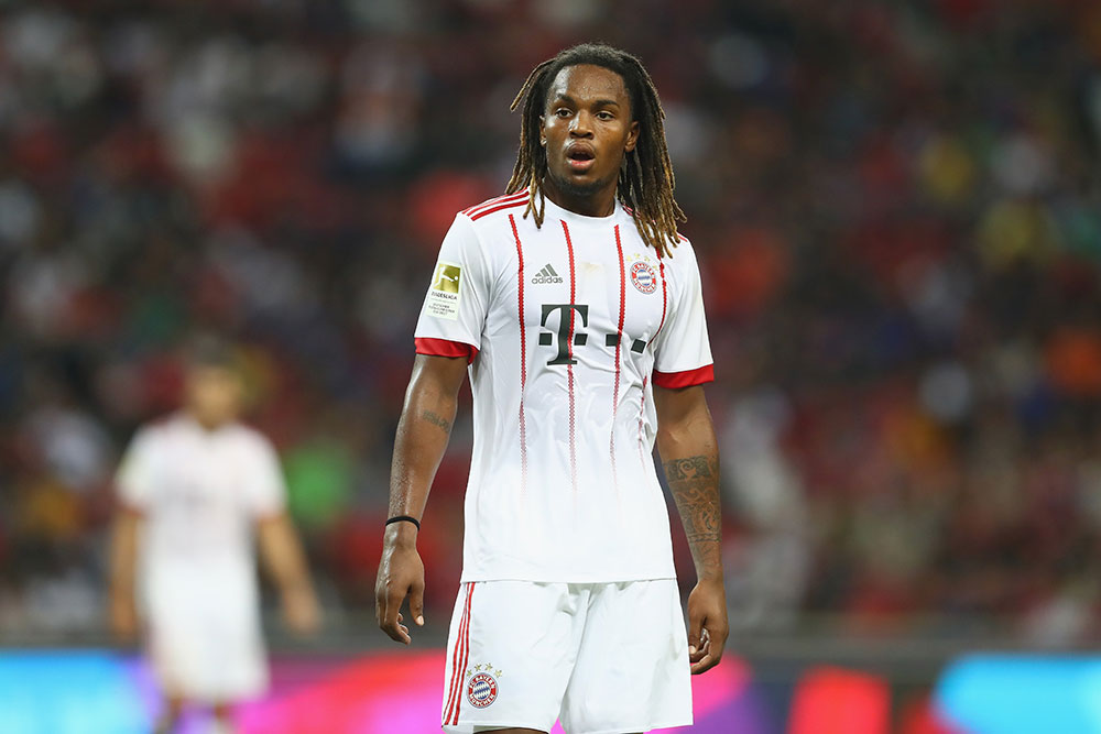 Renato Sanches during Bayern Munich-Inter at National Stadium on July 27, 2017 in Singapore, Singapore. (Photo by Alexander Hassenstein/Bongarts/Getty Images)