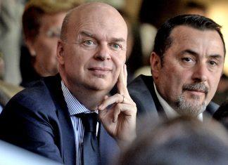 Marco Fassone and Massimiliano Mirabelli. (@acmilan.com)