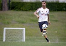 Suso during training at Milanello. (@acmilan.com)