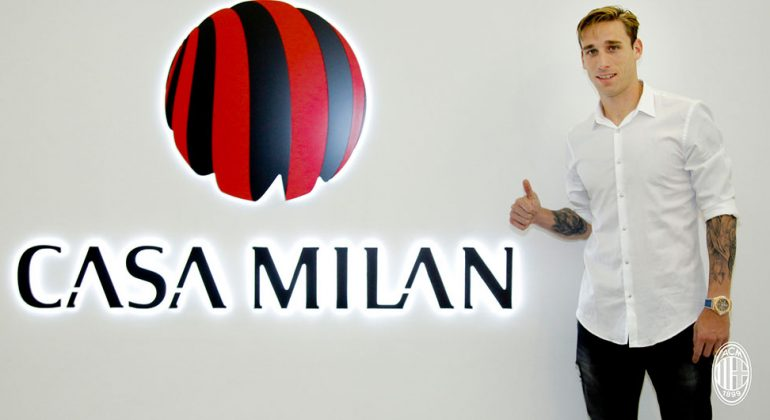 Lucas Biglia at Casa Milan on the 15th of July, 2017. (@acmilan.com)