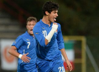 Pietro Pellegri celebrates during Italy U16-Turkey U16 at Stadio Opitergium on October 20, 2015. (Photo by Dino Panato/Getty Images)