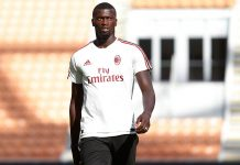 M'Baye Niang during training. (@acmilan.com)